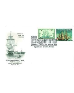 War of 1812 Bicentennial Stamp First Day Cover: Defeat of HMS Guerriere Cachet
