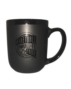 Basketball Hall of Fame Black on Black Mug
