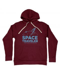 Adult Maroon Fleece Space Traveler Hoodie