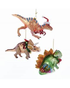 Assorted Glass and Resin Dinosaur Ornaments