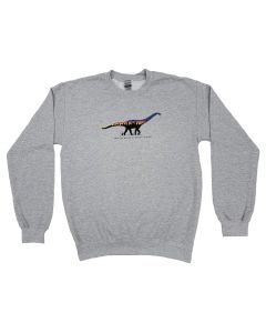 Adult Color Gradient Titanosaur Sweatshirt
