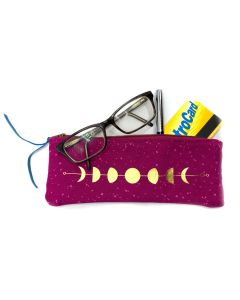 Magenta Moon Phases Eyeglasses Case