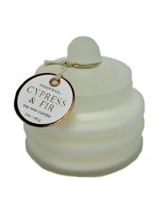 Cypress and Fir Candle in Frosted Glass Mini Pot