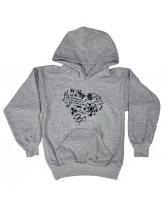Youth Gray Eco-Friendly I Heart Science Hoodie