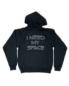 Adult I Need My Space Black Fleece Hoodie