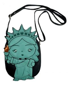 Statue Of Liberty Faux Leather Crossbody Bag
