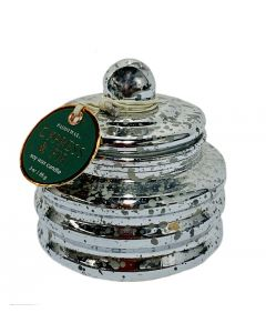 Cypress and Fir Candle in Silver Mirrored Glass Mini Pot