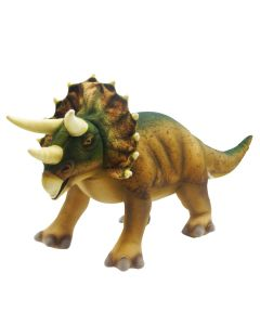 Handcrafted Realistic Plush Triceratops