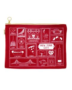 NYC Icons Large Flat Zip Pouch
