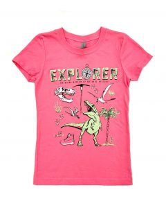 Girls Pink Dinosaur Explorer T-Shirt