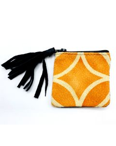South African Litema Suede Coin Purse