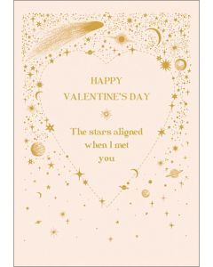 The Stars Aligned Valentine's Day Card