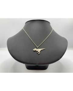 Sterling Silver Origami T. Rex Necklace