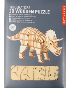Triceratops 3-D Wooden Puzzle