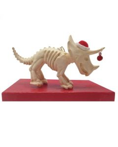 Triceratops Skeleton Holiday Ornament