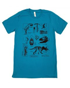Adult Archaeologist Field Guide Collage T-Shirt