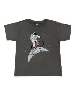 Youth Charcoal Gray Astronaut Moon Rider T-Shirt