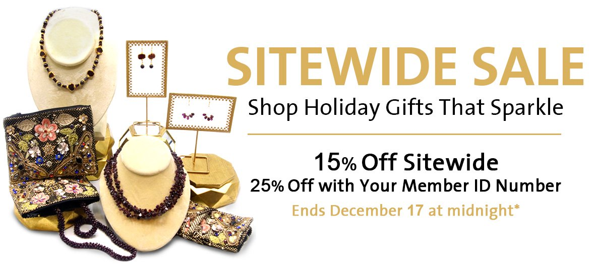 Sitewide Sale 15% and Members Get 25% Off