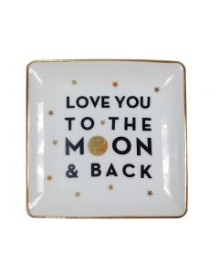 I Love You to the Moon & Back Trinket Plate