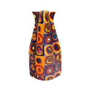 Kandinsky Expandable Flower Vase, Color Study: Square With Concentric Circles