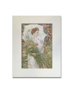 The White Parasol Matted Print