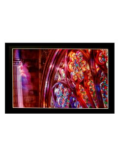 ''Rose Window Detail'' Matted Print