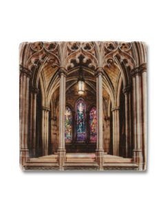 Cathedral Stained Glass Window Coaster