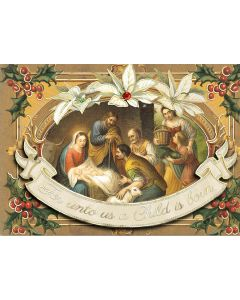 ''A Child is Born'' Embellished Christmas Cards