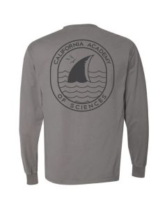 California Academy of Sciences Long Sleeve Tee with Shark Fin Logo Chest and Back