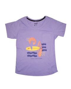 Ladies Penguin Surf Stencil Tee