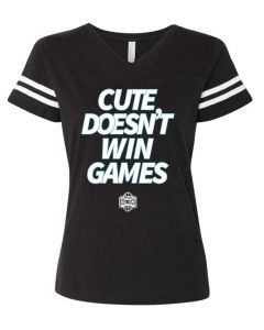 Ladies Cute Doesn't Win Games V-Neck