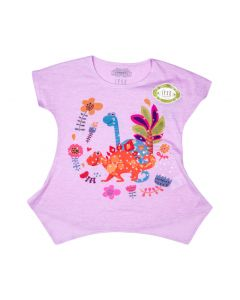 Girl's Dinosaur Flower Bling Tee