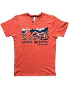 "Adult ""Respect the Locals"" Octopus Tee"