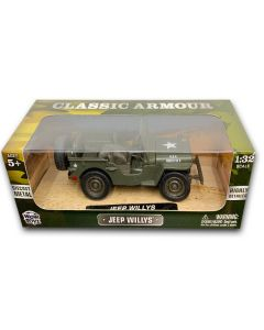 Die Cast Metal Classic Amour Jeep Willys1:32 Scale