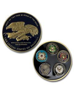 We Support Our Troops Coin