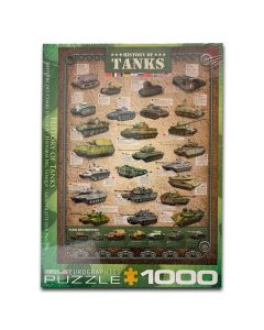 History of Tanks 1,000 Piece Eurographics Puzzle