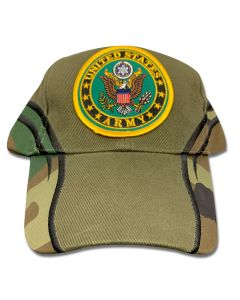 Army Crest Round Patch Cap