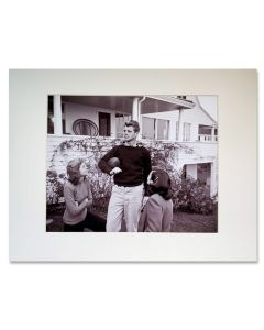 Robert F Kennedy Football Matted Print