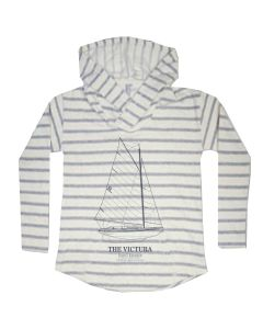 Ladies Victura Striped Hoodie