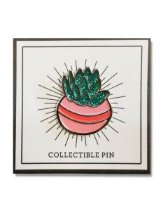 Succulent Pin with Glitter