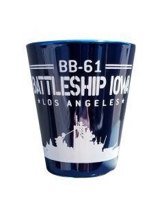 BB-61 Battleship Iowa Shot Glass