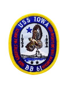 USS Iowa Crest Patch