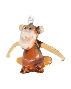 Monkey Glass Ornament
