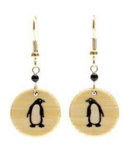 Bamboo Penguin Earrings