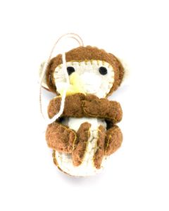 Monkey Felt Ornament