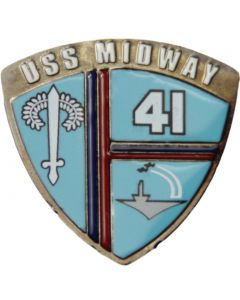 USS Midway Shield Collector's Pin