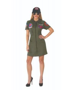 Adult Top Gun Dress and Cap Costume