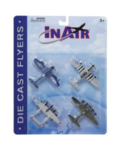 WW2 Warbirds Diecast 4-Pack