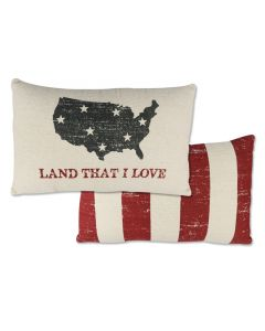 Land That I Love Throw Pillow