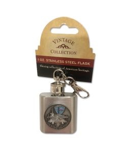 USS Midway 1 oz Stainless Steel KC Flask